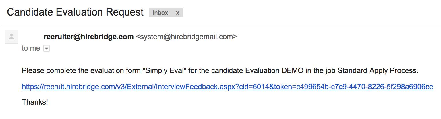 How To Send Evaluation Form Hirebridge